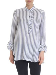 Her Shirt - Alfreda shirt with white and blue stripes