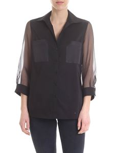 Her Shirt - Black Aziza shirt with voile sleeves