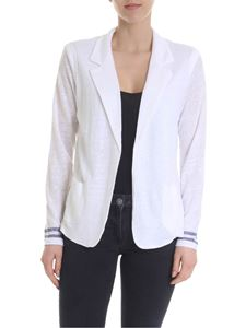 Majestic Filatures - White linen cardigan with classic lapels