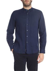 Aspesi - Mandarin collar shirt in blue