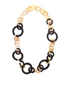 Max Mara Weekend - Garian necklace in brown and beige