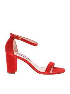 Stuart Weitzman - Nearlynude sandals in red
