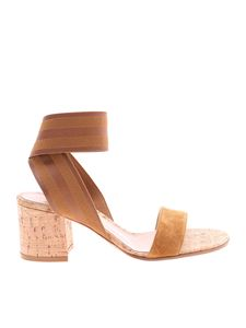 Gianvito Rossi - Beige suede leather sandals
