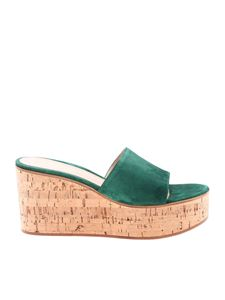 Gianvito Rossi - Green suede slippers