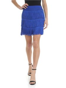 Alberta Ferretti - Fringed electric blue skirt