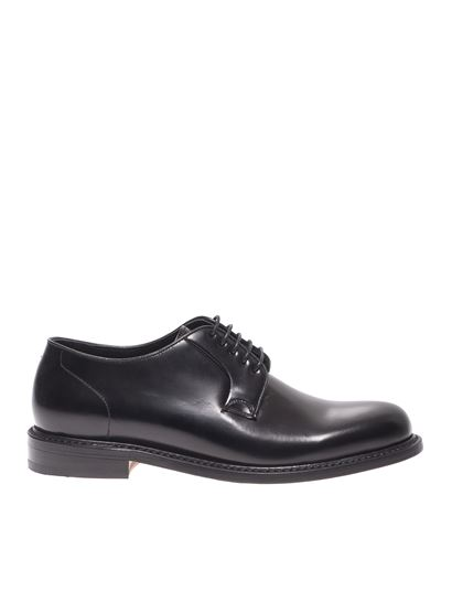 Berwick 1707 - Brushed derby shoes in black