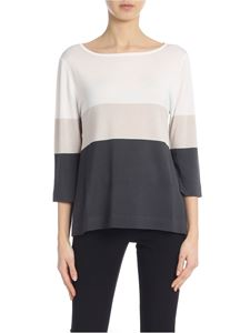 Kangra Cashmere - Colorblock sweater with side vents