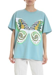 See by Chloé - Aquamarine t-shirt with butterfly print