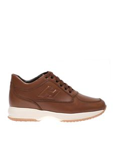 Hogan - Leather brown Interactive sneakers