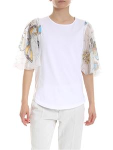 See by Chloé - White T-shirt with nude sleeves