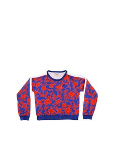 Pinko Up - Isere blue and red sweatshirt
