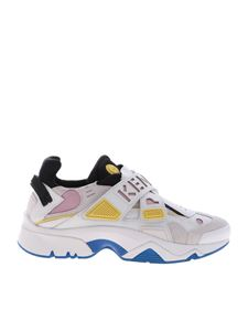 Kenzo - Sonic Velcro sneakers in white and pink