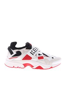 Kenzo - Sonic Velcro sneakers in white and red