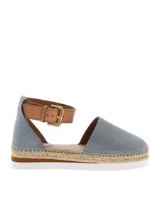 See by Chloé - Glyn espadrilles sandals in light blue suede