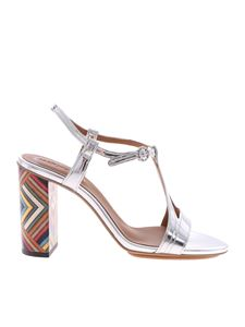 See by Chloé - Ankle strap sandals with Multi Rainbow heel
