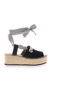 See by Chloé - Black espadrilles sandals with Amber wedge