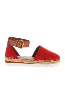 See by Chloé - Glyn espadrilles sandals in red suede