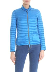 Save the duck - Light blue fitted down jacket