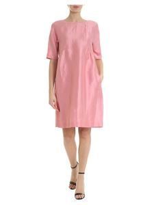 Max Mara Weekend - Silk and pink linen Canore dress