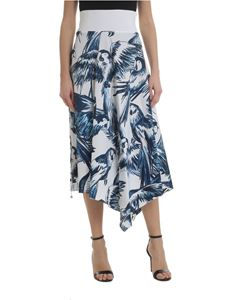 Sportmax - White and blue Pallida skirt