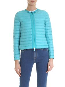 Save the duck - Cyan recycled down jacket
