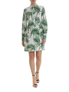 Sportmax - Udito shirt dress with foliage motif