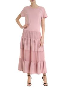Red Valentino - Cotton and tulle dress in antique pink