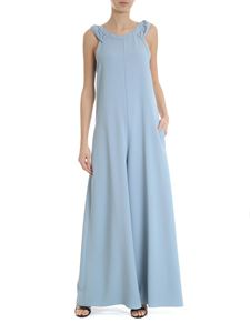 Red Valentino - Sleeveless jumpsuit in blue