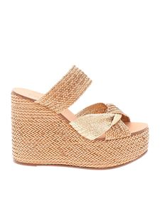 Casadei - Wedges in beige braided leather
