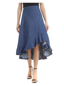 Kenzo - Denim skirt with flounce