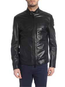 Emporio Armani - Jacket in genuine black leather