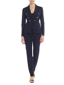 Tagliatore - Alicya double-breated suit in night blue