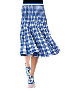 Baum Und Pferdgarten - Cyrilla skirt with blue and white check