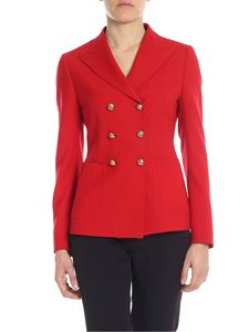 Tagliatore - Anise jacket in red stretch wool