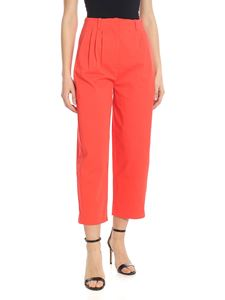 Tela - Gabbia trousers in coral red
