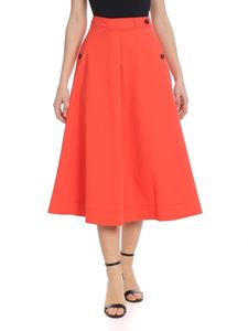 Tela - Galeotta skirt in coral red
