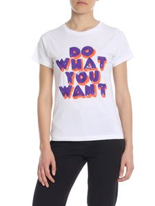 Parosh - Do What You Want T-shirt in white