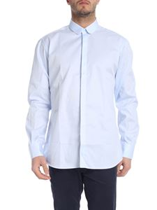 Karl Lagerfeld - Shirt with rounded collar in light blue