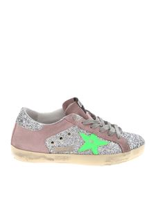 Golden Goose Deluxe Brand - Sneakers Superstar rosa e argentate glitterate
