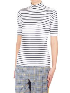 Closed - Striped t-shirt with high collar