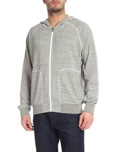 Z Zegna - Contrasting stitching sweatshirt in gray