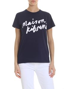 MAISON KITSUNÉ - Printed logo T-shirt in blue