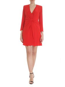Emporio Armani - Twisted dress in red