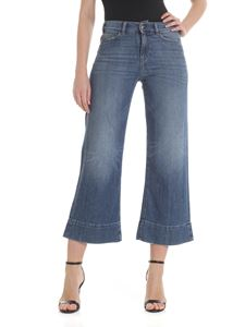 Emporio Armani - Washed-effect flared jeans in blue