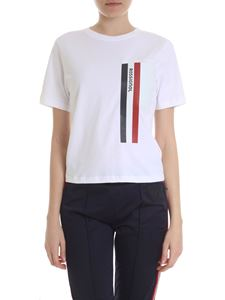 Rossignol - White t-shirt with heat-sealed striped print