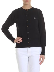 Vivienne Westwood  - Embroidered logo cardigan in black