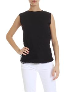 Jucca - Black top with tulle insert