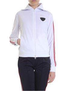 Rossignol - White technical sweatshirt with striped bands