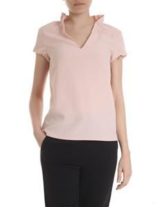 Emporio Armani - Crepe blouse in pink
