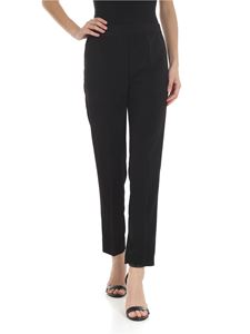 Jucca - Pantalone nero in viscosa stretch